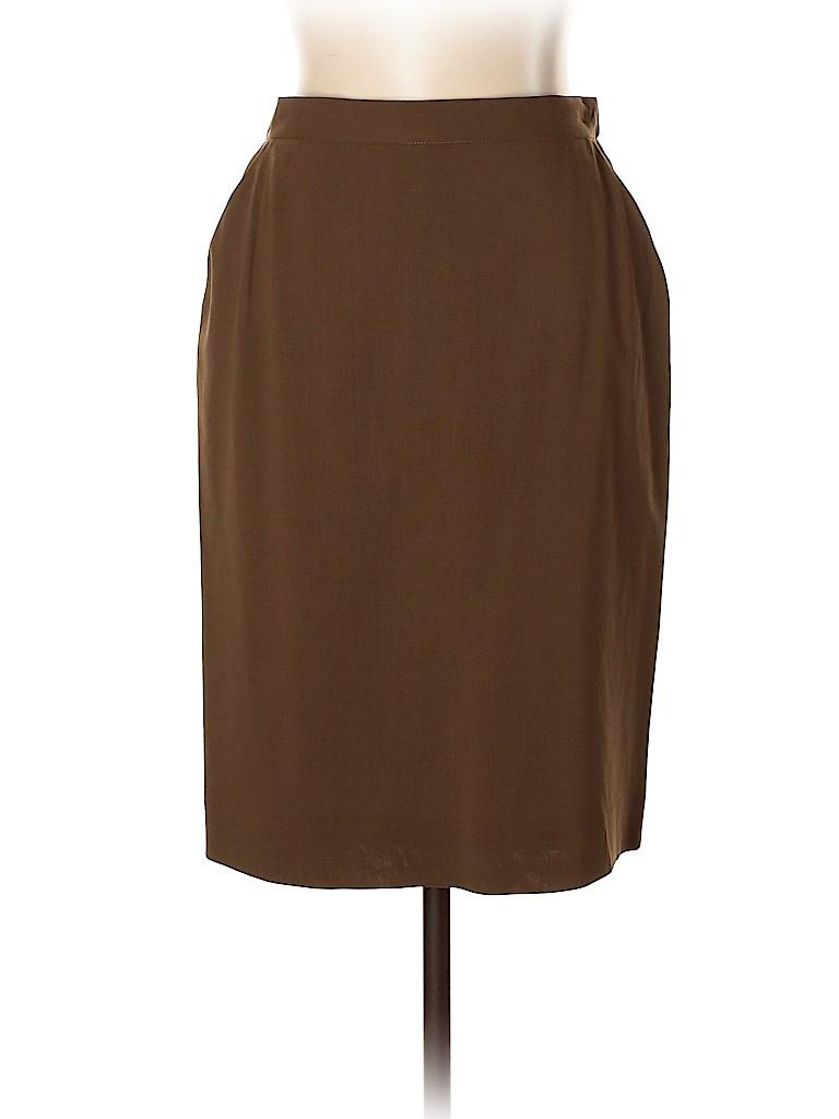 Donna Karan Signature Women Wool Skirt Size 10