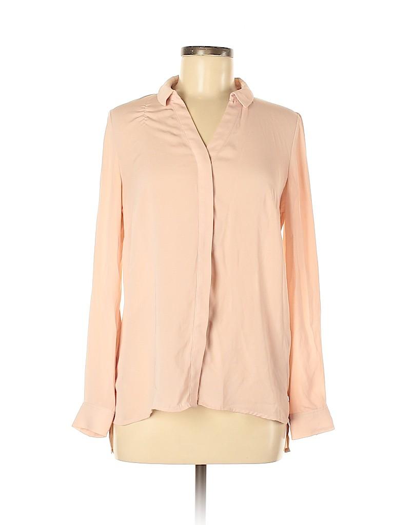 Laundry by Shelli Segal Women Long Sleeve Button-Down Shirt Size S
