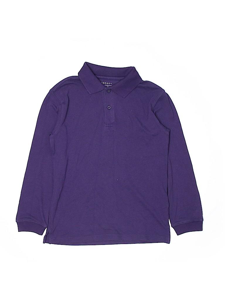 George Boys Long Sleeve Polo Size 8