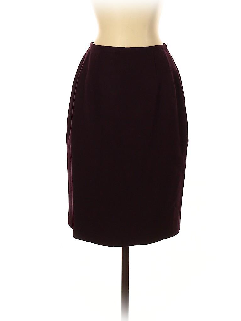 Carmen Marc Valvo Collection Women Wool Skirt Size 4