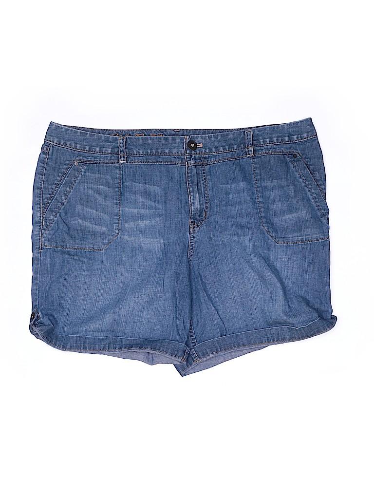 Eddie Bauer Women Denim Shorts Size 18 (Plus)