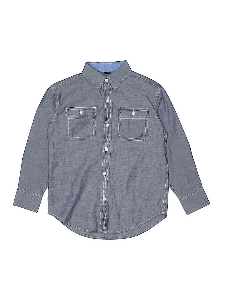 Nautica Boys Long Sleeve Button-Down Shirt Size 8