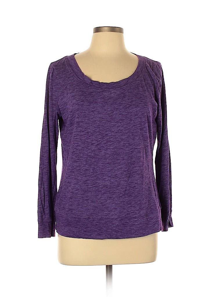 New York & Company Women Long Sleeve T-Shirt Size L