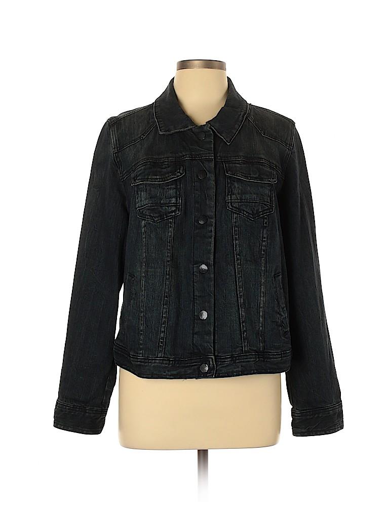 Lane Bryant Women Denim Jacket Size 16 (Plus)
