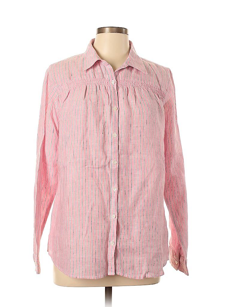 Lands' End Women Long Sleeve Button-Down Shirt Size 14 - 16