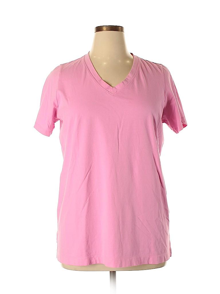 Lands' End Women Short Sleeve T-Shirt Size 0X (Plus)