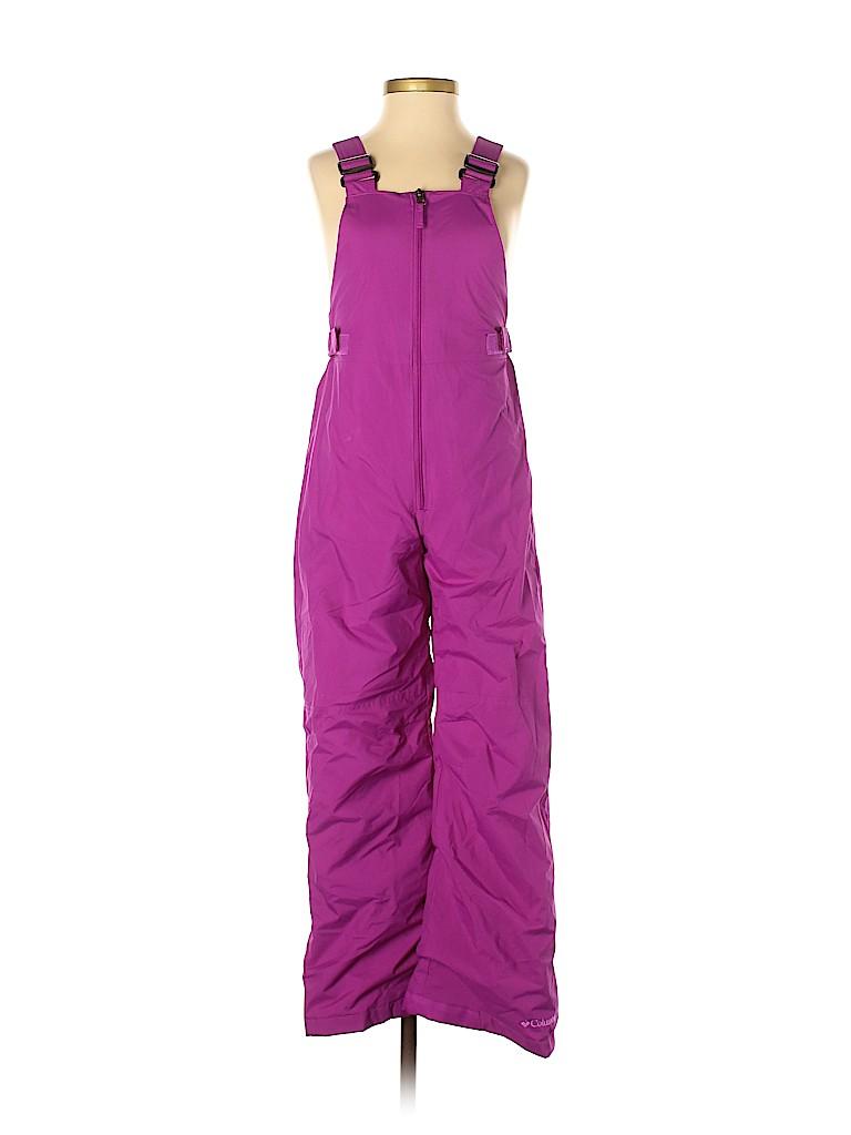 Columbia Girls Snow Pants With Bib Size 10 - 12