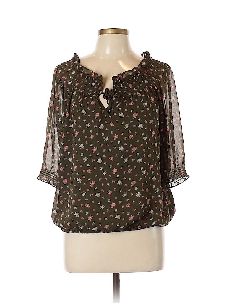 Soho JEANS NEW YORK & COMPANY Women 3/4 Sleeve Blouse Size M