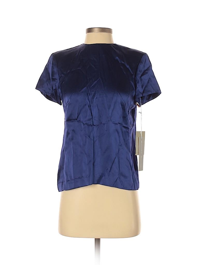 W by Worth Women Short Sleeve Silk Top Size 4