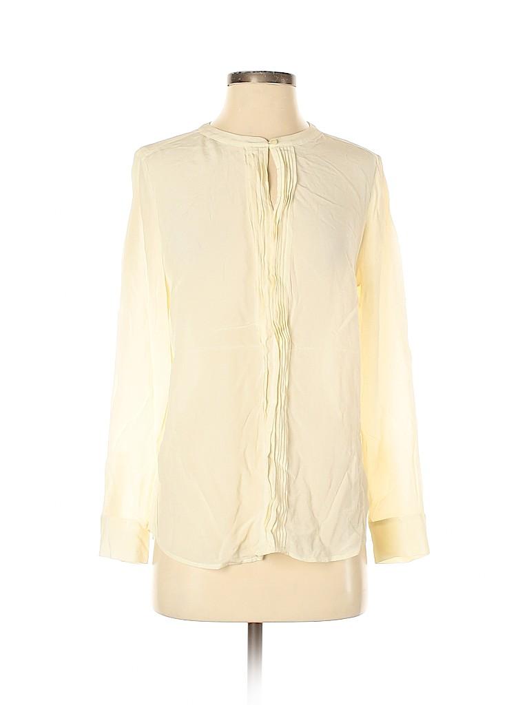 Talbots Women Long Sleeve Silk Top Size 4