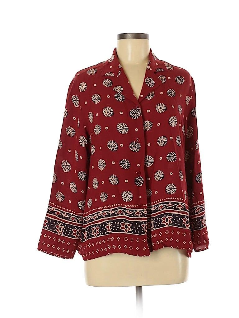 Coldwater Creek Women Long Sleeve Button-Down Shirt Size 12