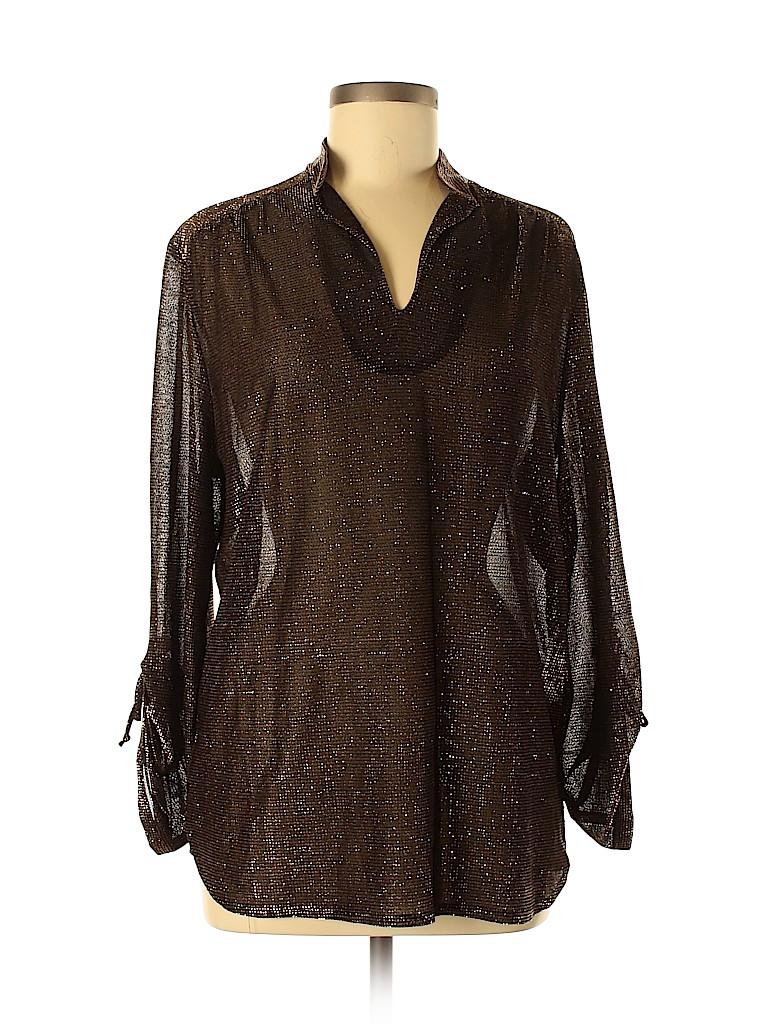 Ample Togs Women Long Sleeve Blouse Size 38 (EU)