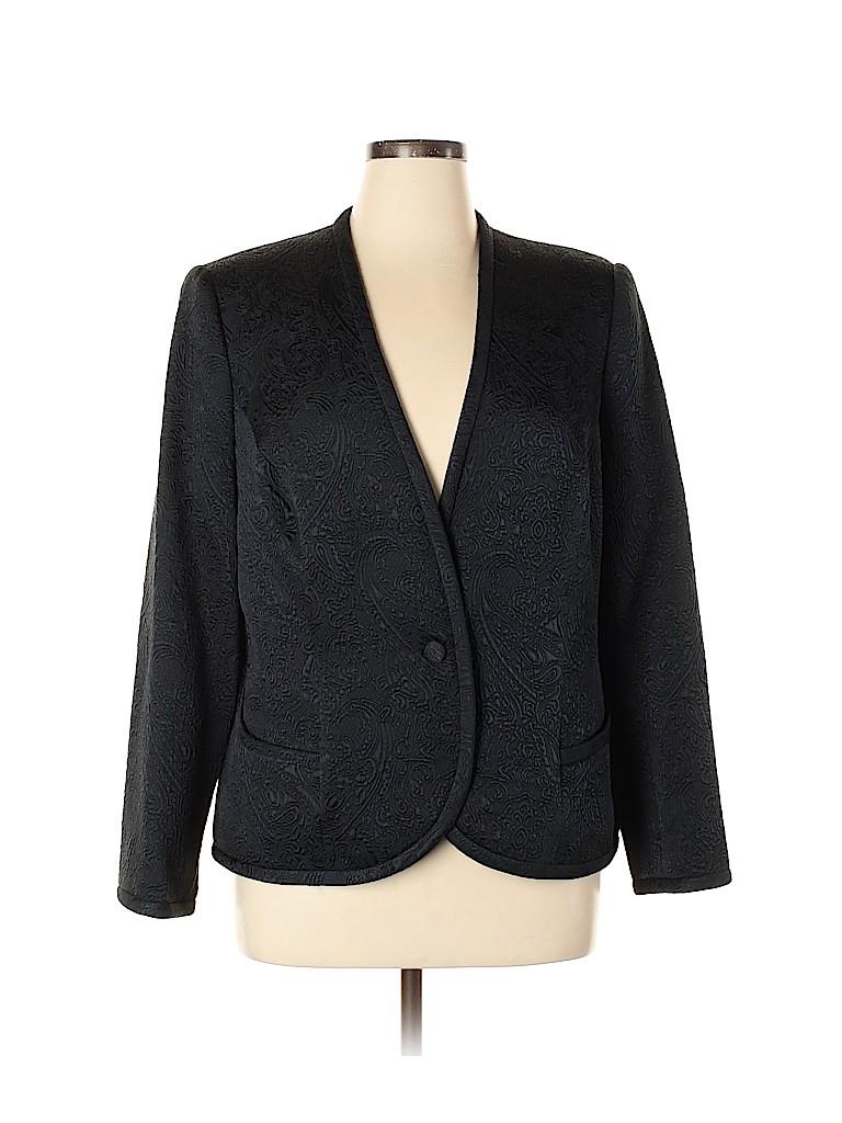 Carmen Marc Valvo Women Wool Blazer Size 16