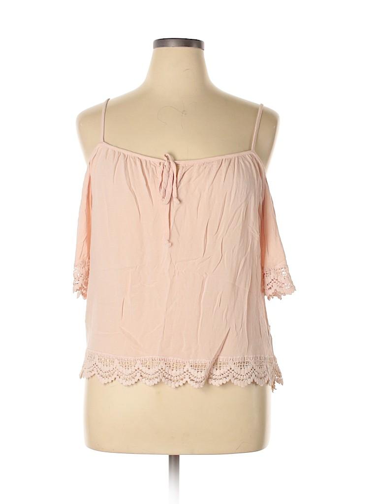 Charlotte Russe Women 3/4 Sleeve Blouse Size XL