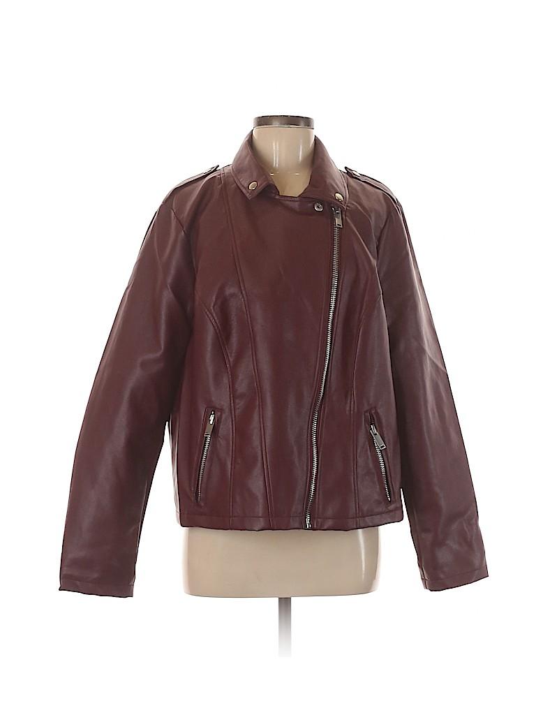 Charlotte Russe Women Faux Leather Jacket Size XL
