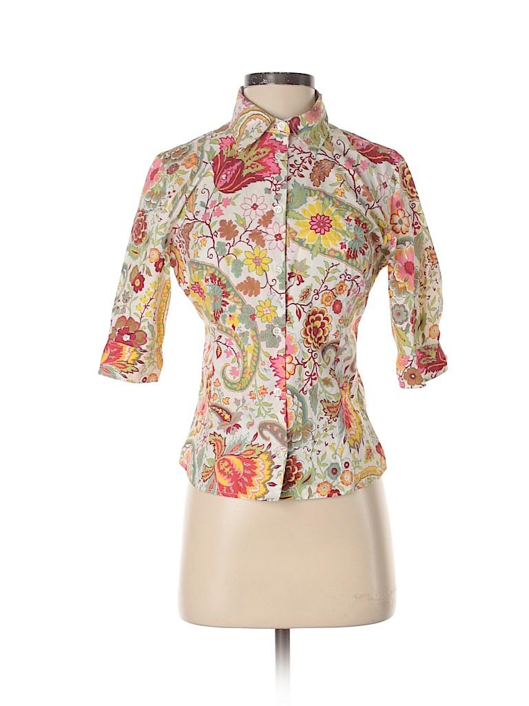 ETRO Women 3/4 Sleeve Button-Down Shirt Size 44 (IT)