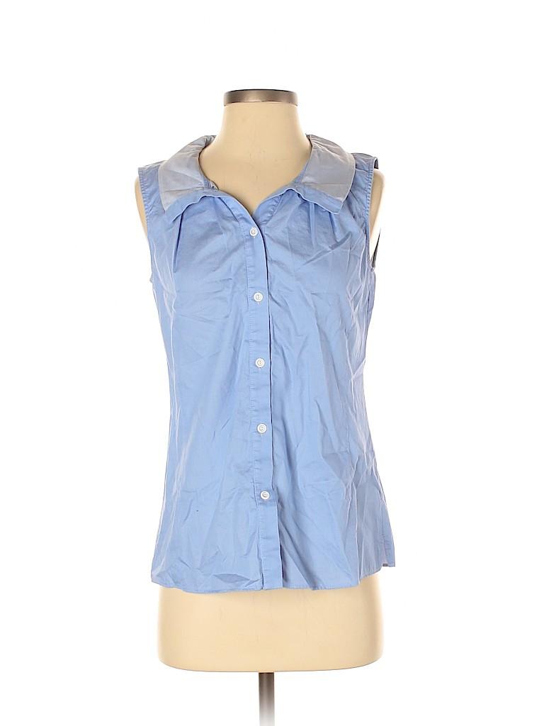 Lafayette 148 New York Women Sleeveless Button-Down Shirt Size 4