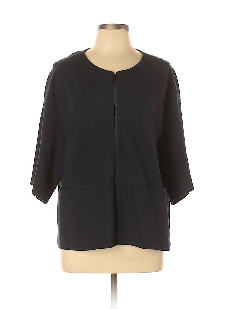 Lafayette 148 New York Women 3/4 Sleeve Blouse Size XL