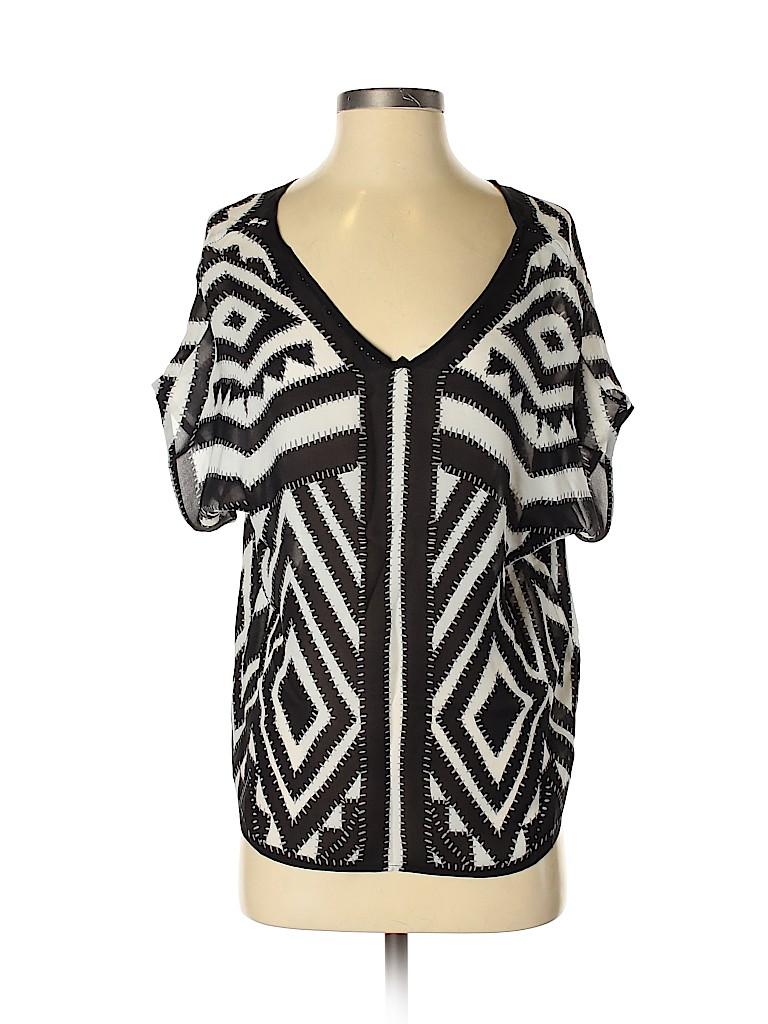 Milly Women Short Sleeve Silk Top Size 2