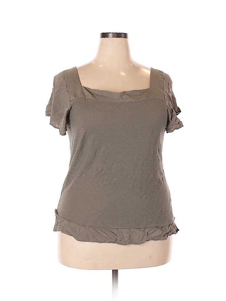 Vince Camuto Women Short Sleeve Top Size XXL