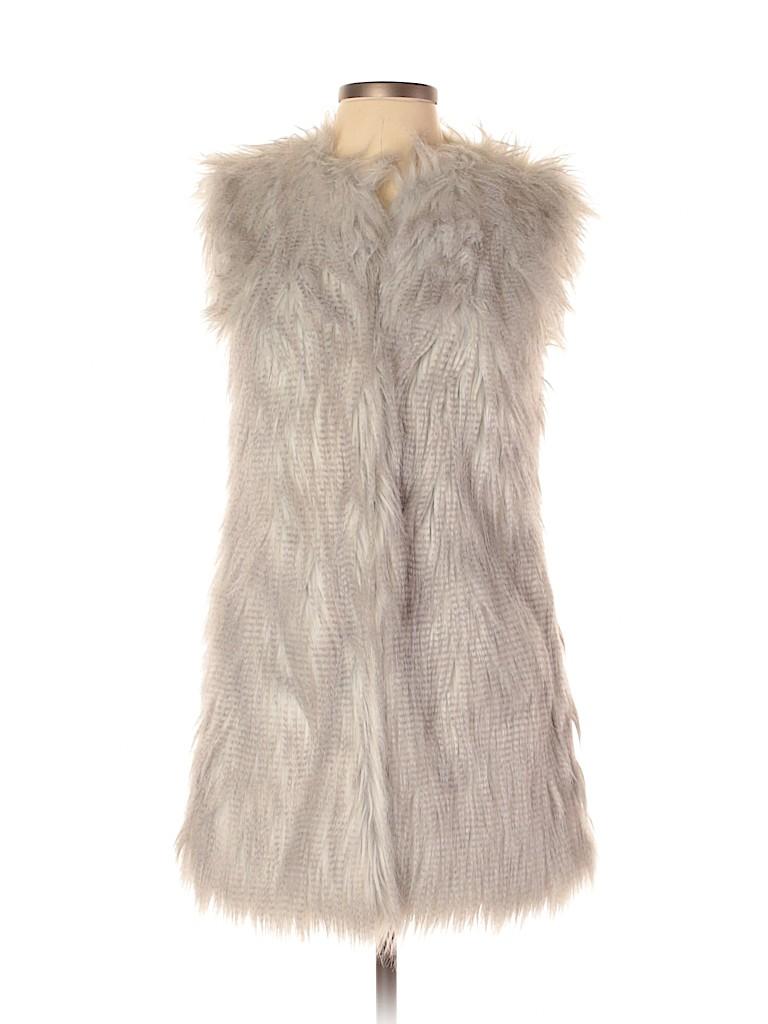 Brandon Thomas Women Faux Fur Vest Size S