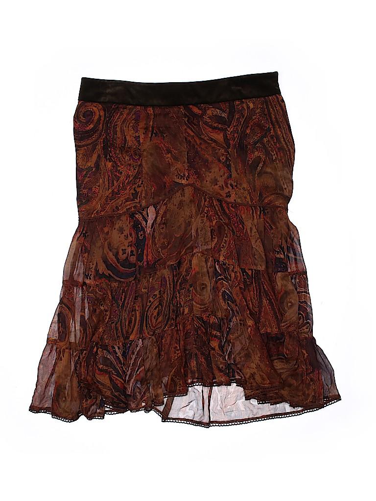 Costume National Women Silk Skirt Size 46 (EU)