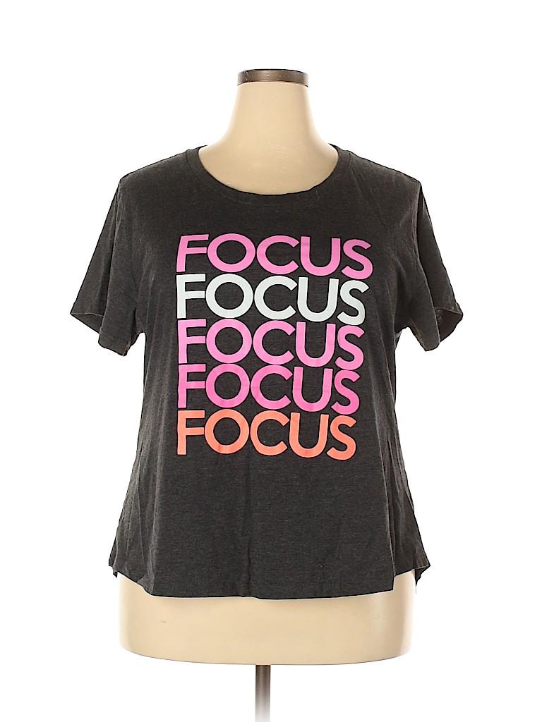 Assorted Brands Women Short Sleeve T-Shirt Size 22w - 24w (Plus)
