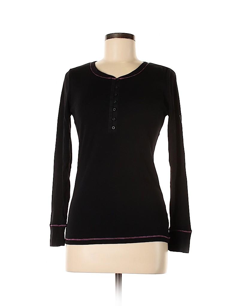 DKNY Women Long Sleeve Henley Size S