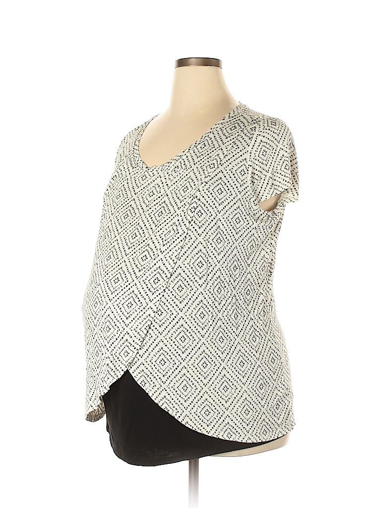 Motherhood Women Short Sleeve Top Size XL (Maternity)