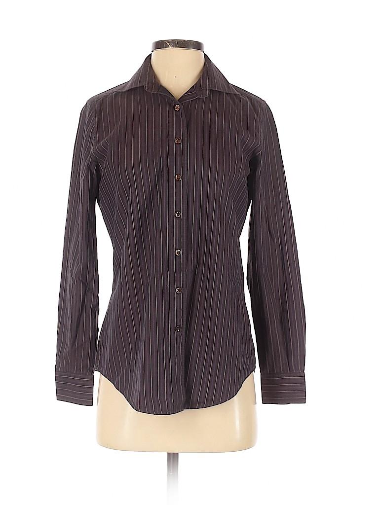 Faconnable Women Long Sleeve Button-Down Shirt Size XS