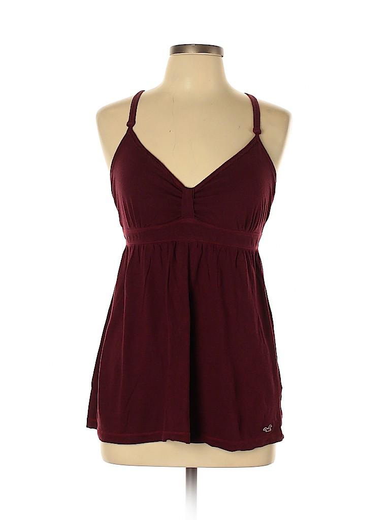 Hollister Women Sleeveless T-Shirt Size L