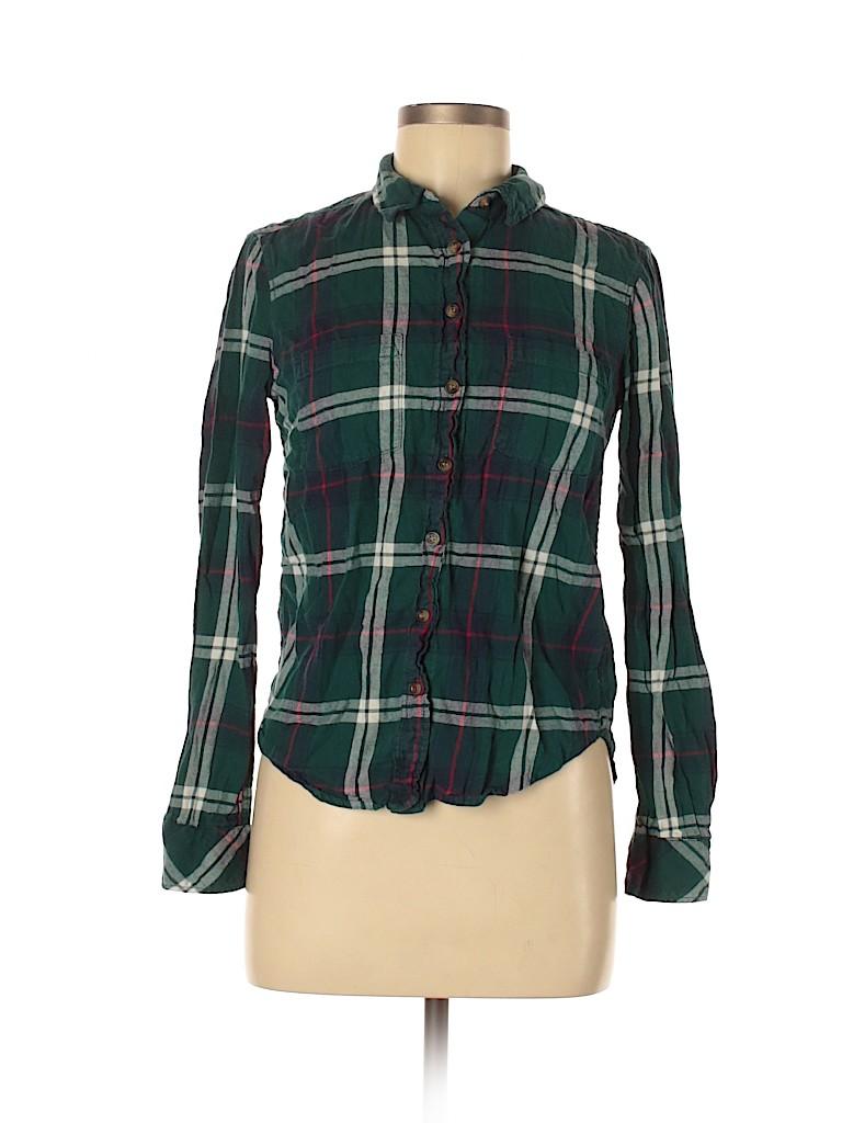 H&M L.O.G.G. Women Long Sleeve Button-Down Shirt Size 6
