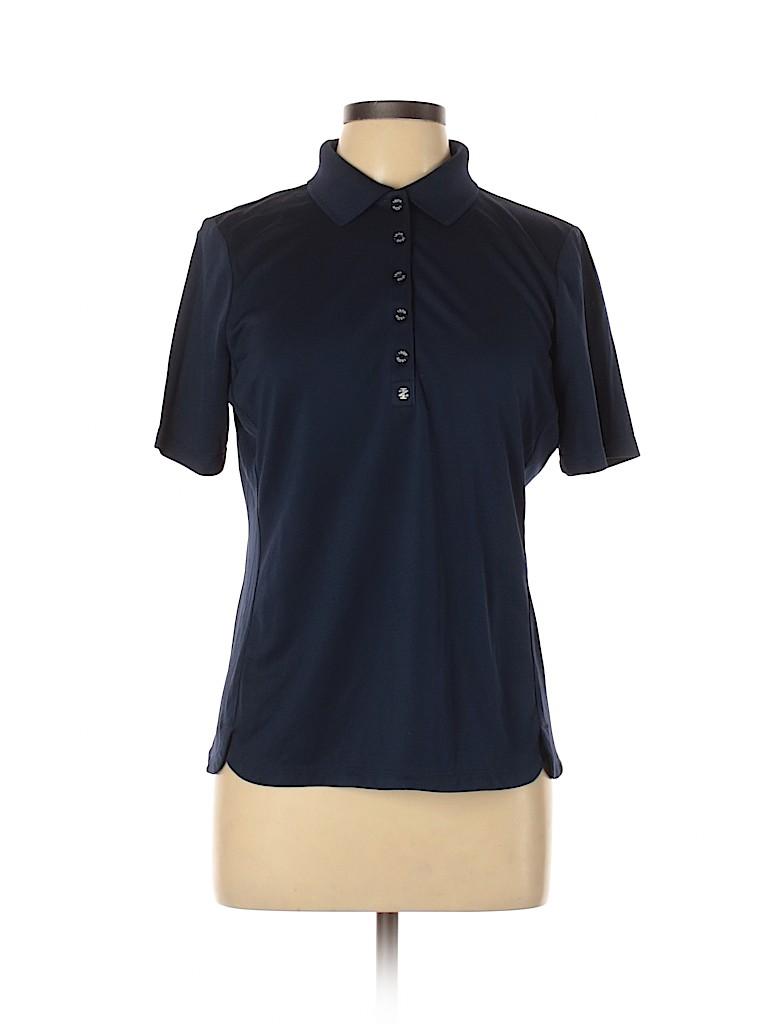 IZOD Women Short Sleeve Polo Size L