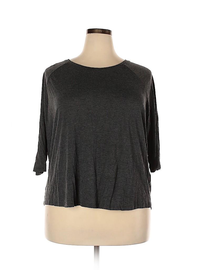H&M Women 3/4 Sleeve T-Shirt Size 2X (Plus)