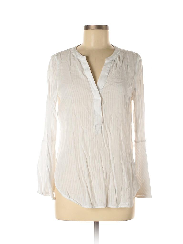 Simply Vera Vera Wang Women Long Sleeve Blouse Size M