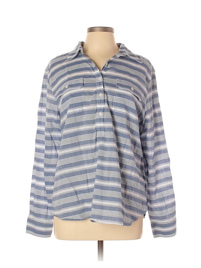 Chaps Women Long Sleeve Button-Down Shirt Size XL