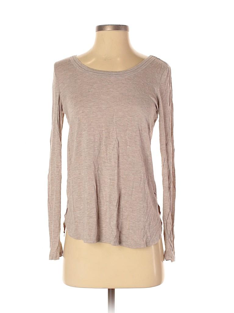H by Bordeaux Women Long Sleeve T-Shirt Size S