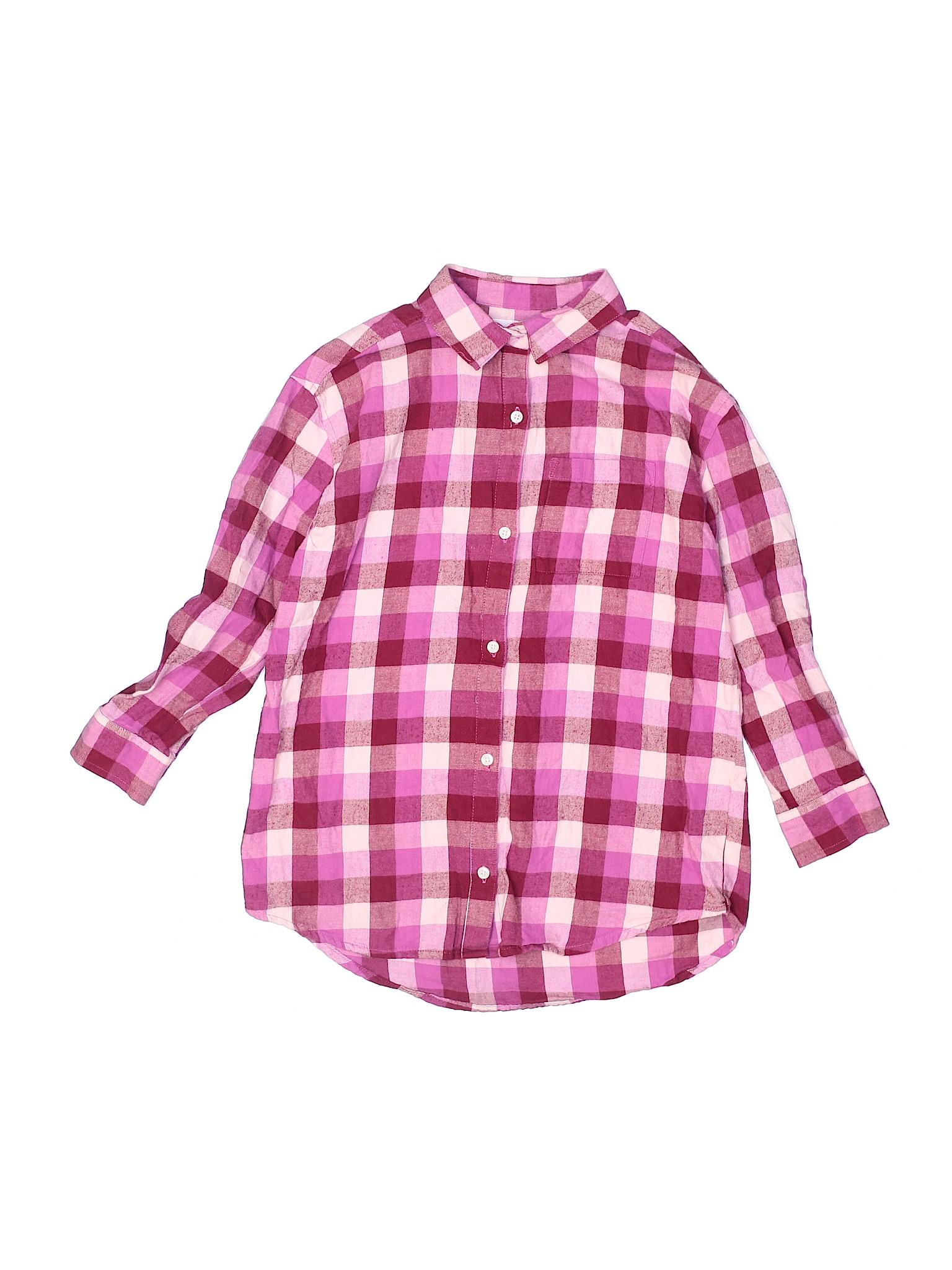Old Navy Girls Pink Long Sleeve Button Down Shirt Large Kids Ebay