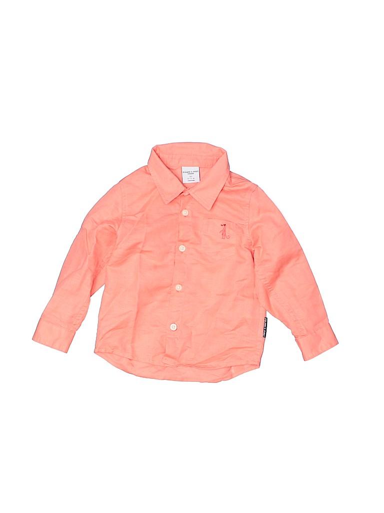 Polarn O. Pyret Boys Long Sleeve Button-Down Shirt Size 9-12 mo