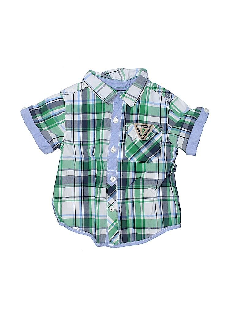 Guess Boys Short Sleeve Button-Down Shirt Size 18