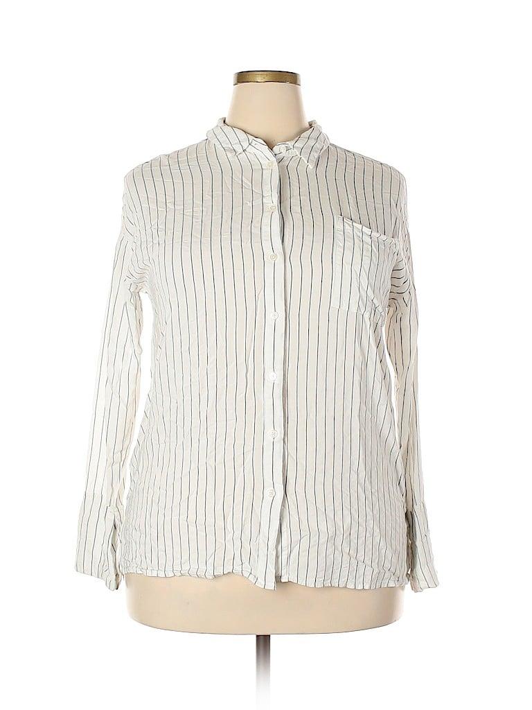 Mossimo Women Long Sleeve Button-Down Shirt Size XXL