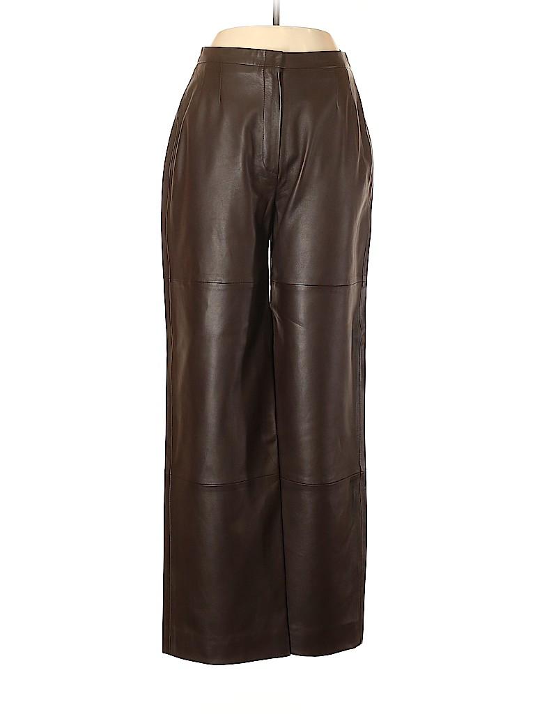 Max Mara Women Leather Pants Size 12