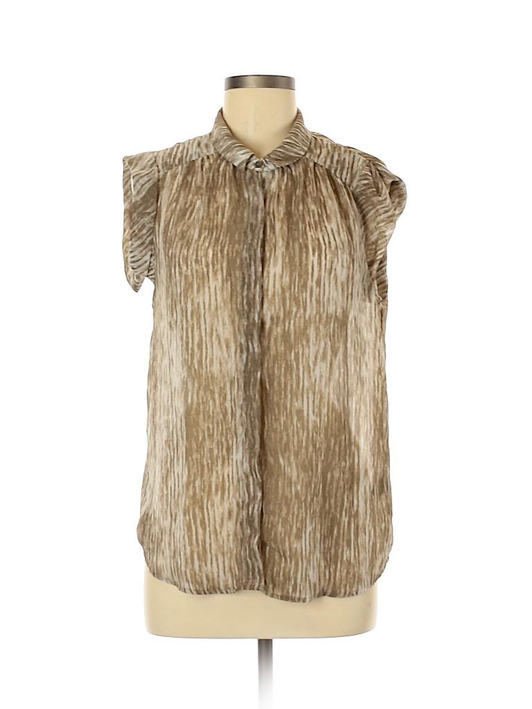 Premise Studio Women Short Sleeve Blouse Size M