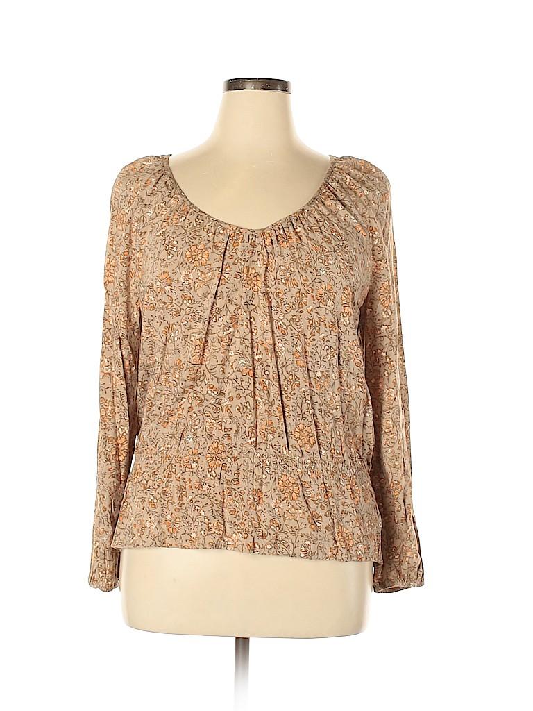 Faded Glory Plus Women Long Sleeve Blouse Size XL (Plus)