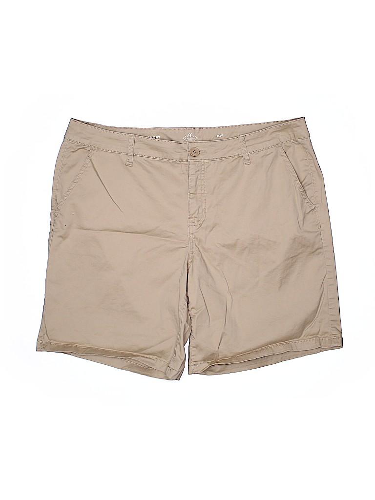 St. John's Bay Women Khaki Shorts Size 16