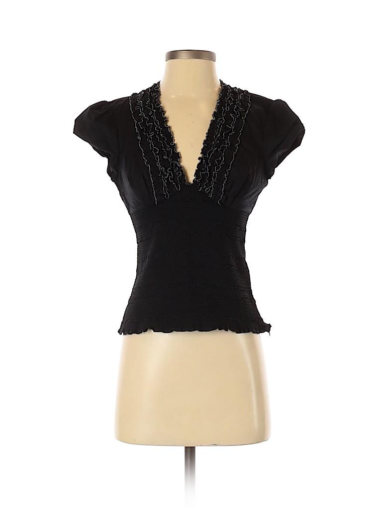 Catherine Malandrino Women Short Sleeve Blouse Size 6
