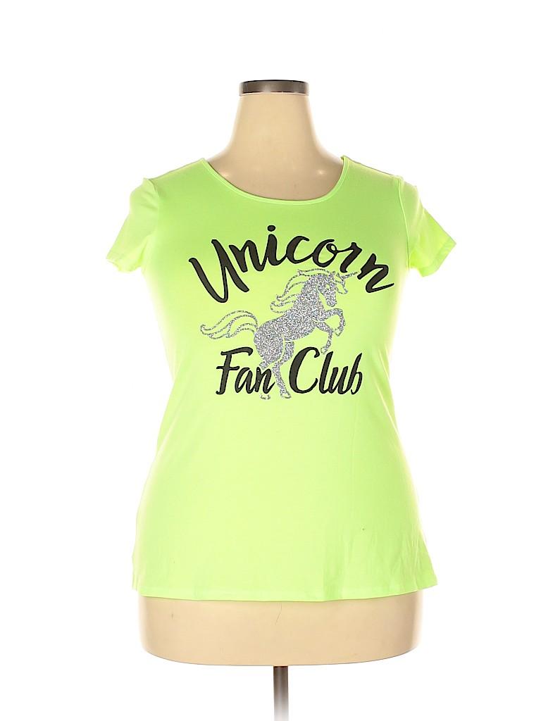 Justice Women Short Sleeve T-Shirt Size 18 (Plus)