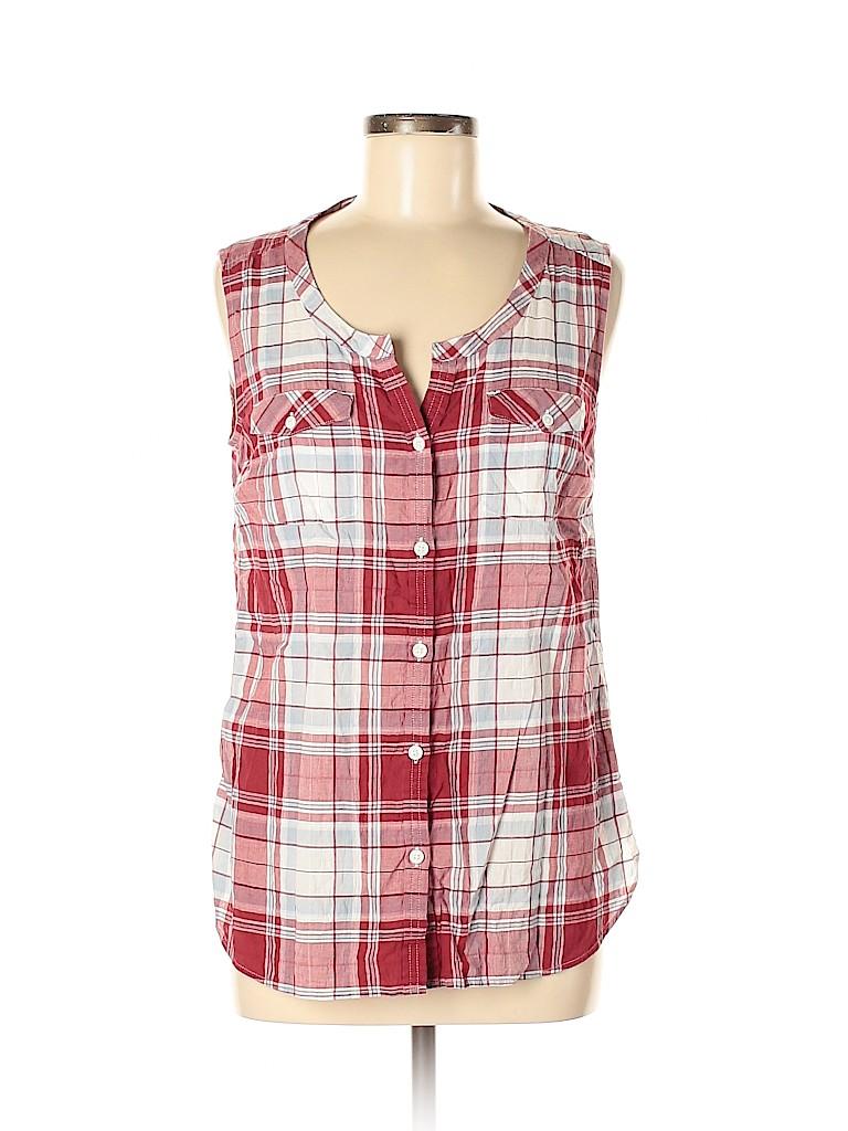 Eddie Bauer Women Sleeveless Button-Down Shirt Size M