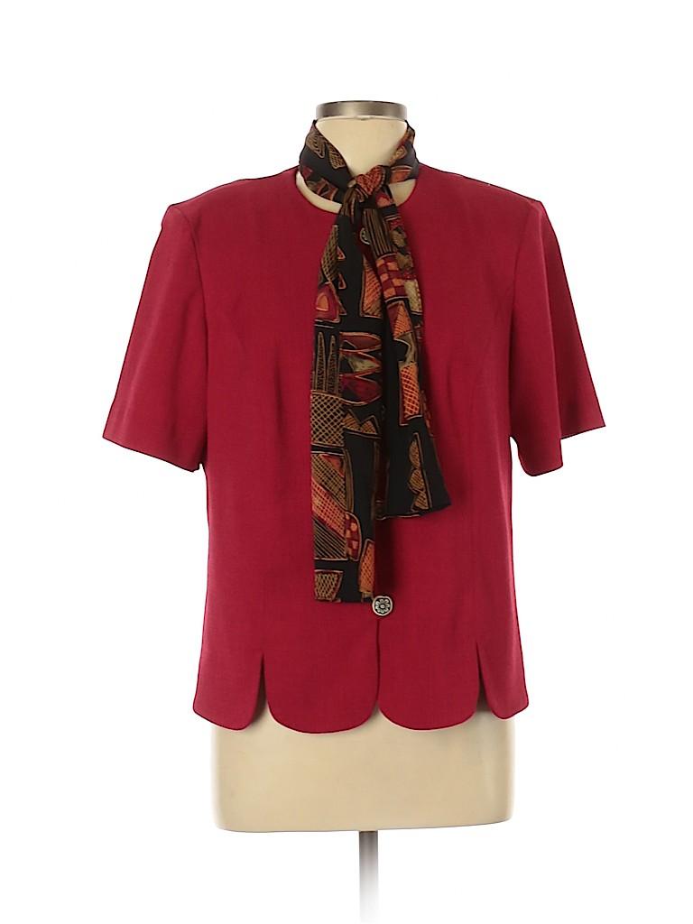 Leslie Fay Women Jacket Size 14 (Petite)
