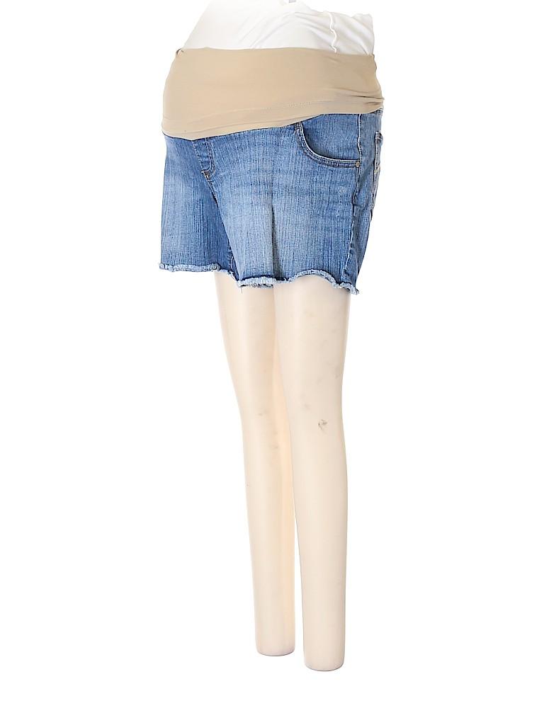 Indigo Blue Women Denim Shorts Size M (Maternity)